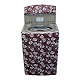 #4: Dream Care Floral Waterproof And Dustproof Washing Machine Cover For Whirlpool Whitemagic Premier 6.5Kg Fully-Automatic Top Loading- Brown