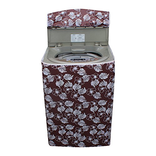 Glassiano Floral Brown Colored waterproof and dustproof washing machine cover for Whirlpool Stainwash Deep Clean 6.5Kg Fully-Automatic Top Loading Washing Machine  available at amazon for Rs.399