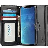 Custodia iPhone X, J&D [RFID Blocco Portafoglio] [Sottile Adatta] Protettiva Robusta Antiurta Flip Custodia per Apple iPhone X - Nero