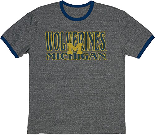 Blue 84 NCAA Michigan Wolverines Vintage Ringer-T-Shirt, Tri-Blend, Größe XXL, Marineblau -