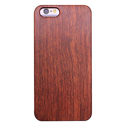Skitic vero legno custodia case per iphone 6 plus/ 6s plus, natura solid wood back cover con hard pc bumper protettiva caso protezione copertura per iphone 6 plus/ 6s plus - palissandro