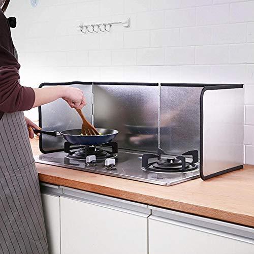 Hete-supply Kitchen Anti-Splatter Shield Guard, 3-seitiger Splatter Shield Guard, Bratpfannenöl-Spritzschutz, Anti-Splash-Öl-Gasherd-Prallwärmeisolierung