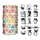 Rghkjlp Headband Cute Triangle Pattern Outdoor Multifunctional Headwear 16 Ways to Wear Your Magic Headwear Scarf Outdoor16