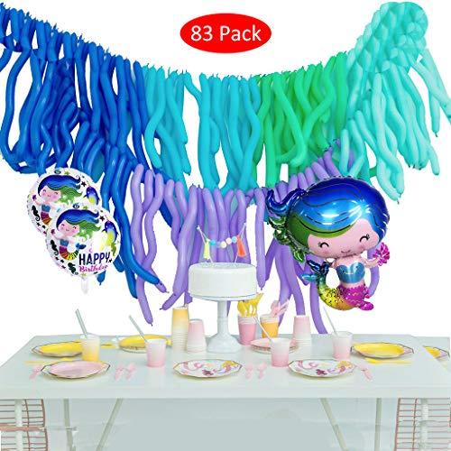 erjungfrau Ballons Party Dekorationen Meerjungfrau Mylar Balloons für Meerjungfrau unter dem Meer Einzigartige Dusche Geburtstagsparty Feier. ()