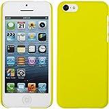 PhoneNatic Coque Rigide pour Apple iPhone 5c - gommée jaune - Cover Cubierta + films de protection