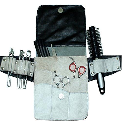 Werkzeugtasche Kassaki Werkzeug-Gürteltasche in echtem weiß Rindsleder