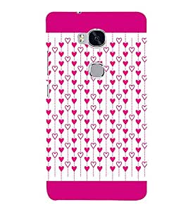 Hanging Hearts 3D Hard Polycarbonate Designer Back Case Cover for Huawei Honor 5X :: Huawei Honor X5 :: Huawei GR5