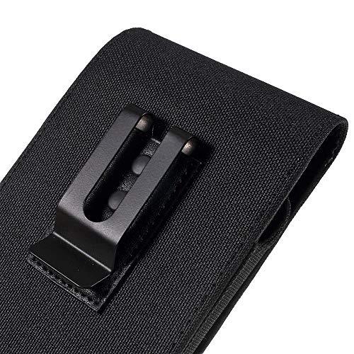 DFVmobile Case Metal Belt Clip Vertical Textile and Leather für => VKWORLD K1 (2018) > Black 2220 Clip