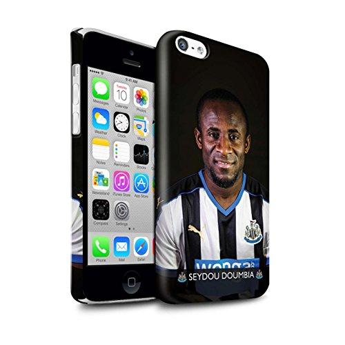 Officiel Newcastle United FC Coque / Clipser Brillant Etui pour Apple iPhone 5C / Pack 25pcs Design / NUFC Joueur Football 15/16 Collection Doumbia
