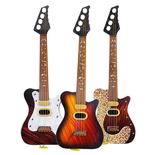 symboat juguete niño Simulation guitarra juguete 4cuerdas Rock instrumento niños niños Musical cumpleaños regalo Kids Toys