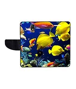 KolorEdge Printed Flip Cover For Samsung Galaxy Note 3 Neo Multicolor - (55KeMLogo11154SamN750)