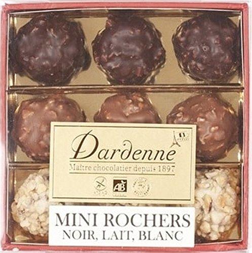Assortment-of-mini-Praline-Rochers-dark-and-milk-chocolate-90-g-Transparent-cover-box
