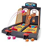 OneCreation Arcade Ball Mini Shoot & Score Game - Juego de 2 jugadores de pelota de baloncesto