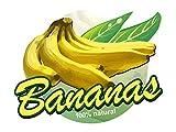 GRAZDesign 621048_40 Wandtattoo Küche Bananen gelb | Küchentattoo für Wand und Schränke | farbiges Wandsticker selbstklebend für Kühlschrank und Spühlmaschene (52x40cm)
