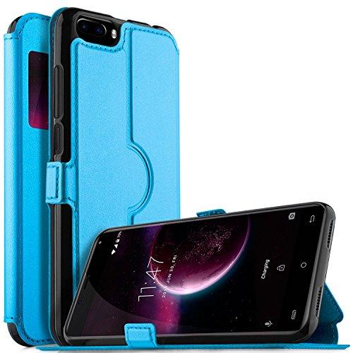 OUKITEL U22 Hülle, KuGi OUKITEL U22 Premium PU Leder Kasten für OUKITEL U22 Smartphone (Blau)