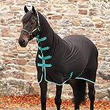 Horseware Amigo All-in-One Jersey Cooler - Black/Teal & Dark Cherry