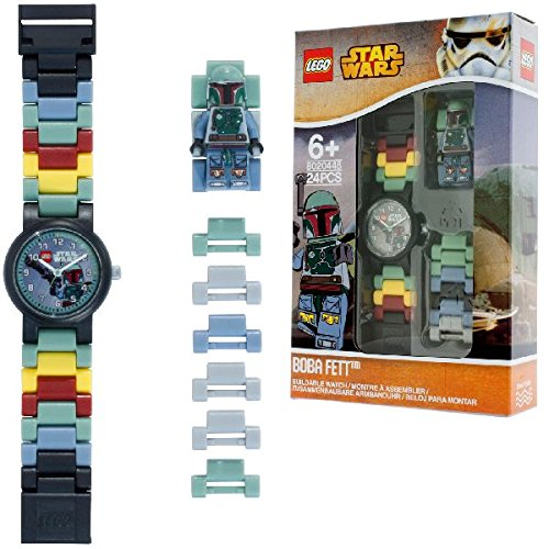 Reloj modificable infantil de figurita de Boba Fett de LEGO Star Wars;...