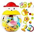 Style-Carry Coffret de jouets avec hochets anneau de dentition -9 pièces de hochets avec différentes couleurs et formes - idéal cadeaux pour les Bébés (9 PC)