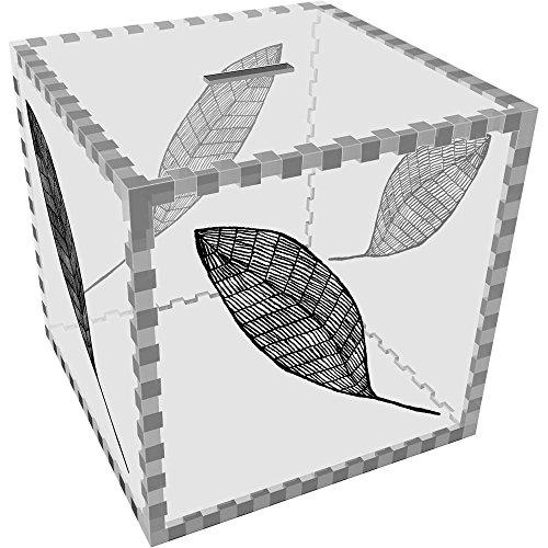 Azeeda Groß 'Blatt' Klar Sparbüchse / Spardose (MB00045742) (Blättern Großen Bank)