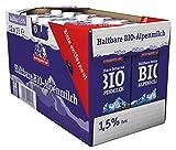 Berchtesgadener Land Bio Haltbare Bio-Alpenmilch 1.5% Fett, 12er Pack (12 x 1l)