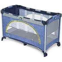 Joie Allura 120 Baby Reisebett - Inkl. Tasche und Babyeinhang - Linen Denim