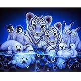 Moeavan 5D DIY Diamant Malerei, Fauna Crystal Strass Stickerei Kreuzstich Kunst Handwerk Leinwand Wanddekoration