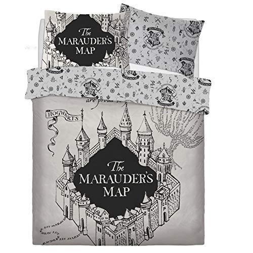 Harry Potter The Marauders Karte Bettwäsche Set Bett Wende Bettbezug Kissenbezug Warner Brothers Bettwäsche - Double (Brothers Potter-warner Harry)