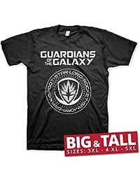 Offizielles Lizenzprodukt Guardians Of The Galaxy Shield 3XL,4XL,5XL Herren T-Shirt (Schwarz)