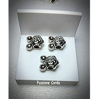 mod. Pandora TOPOLINO 3 PZ. in metallo per bracciali / collane/ portachiavi nichel free IDEALE PER BOMBONIERE