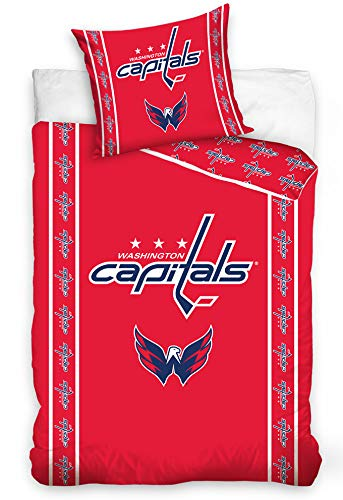 NHL Washington Capitals 161005 National Hockey League Fan Bettwäsche 140x200 cm + 70x90 cm