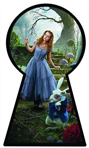 """""""Alice in Wonderland"""" 2-Wandbildpolster, Alice sieht durch ein Schlüsselloch, Postergröße: 1000mm x 600mm, V010 (Alice Schlüsselloch)"""