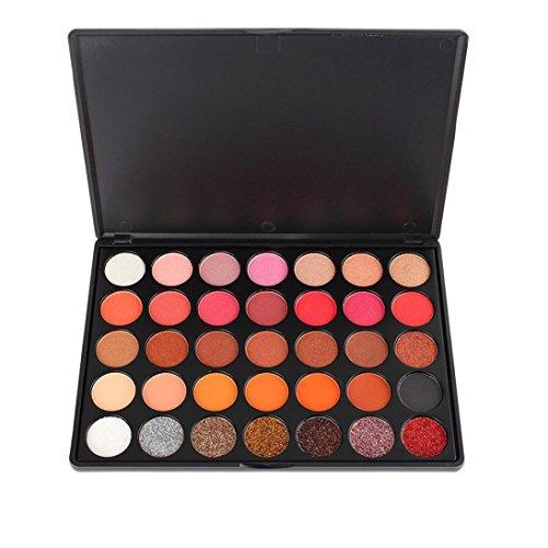 Fards à paupières,35 couleurs de fard à paupières Palette beauté maquillage Shimmer Set cadeau mat ombre à paupières cosmétiques fard à paupières Palette par LHWY
