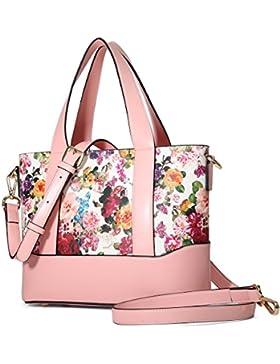 Kadell Blumen Damen Handtasche Leder Schultertasche Tasche Shopper Tote Damenhandtaschen Sale
