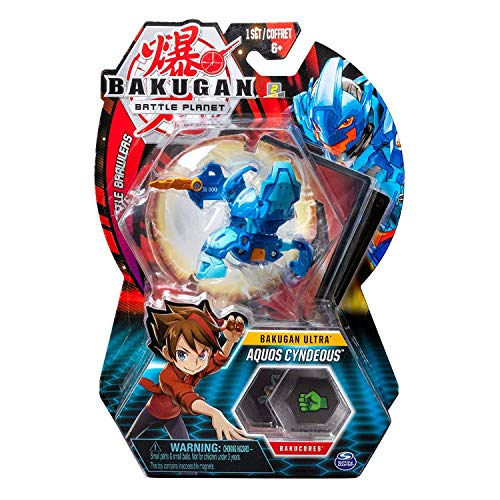 BAKUGAN Deluxe Ultra 1 Pack 3 Inch Figure Aquos Cyndeous