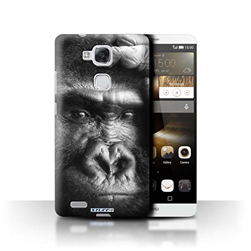Stuff4® Hülle/Hülle für Huawei Ascend Mate7 / Gorilla/AFFE Muster/Zoo-Tiere Kollektion