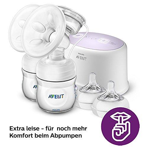 Philips Avent SCF334/31 Elektrische Komfort Doppelmilchpumpe, weiß - 4