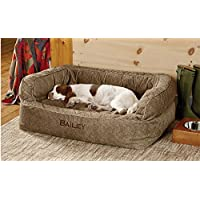 Orvis Memory Foam Couch Dog Bed / Large Dogs 60-90 Lbs., Brown Tweed,
