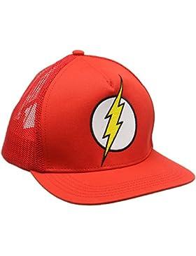 DC Comics Dc-Flash-Logo-Kids, Gorra de Béisbol Unisex Adulto, Rosso, Talla Única