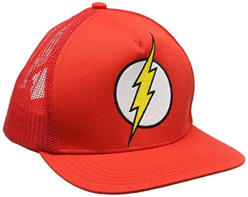 DC Comic DC-Flash-Logo-Kids, Casquette de Baseball Mixte, Red, Taille Unique