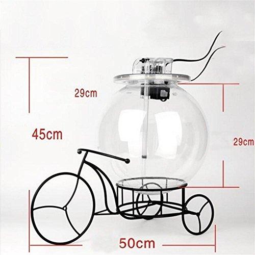Ruyi&JixiangSmall Creative Fahrrad Eisen Acryl Fish Tank einschließlich LED-Lampen und Inside Filter