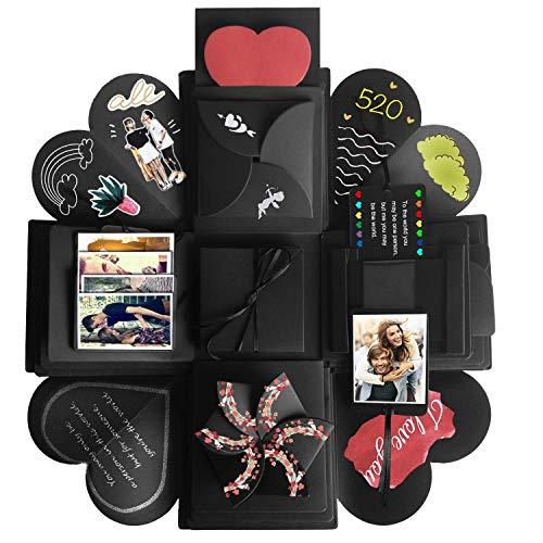 Explosions Box, JRing Kreative Überraschung Geschenk Box DIY Faltendes Fotoalbum , Handgemachtes Scrapbook für Hochzeit Geburtstag Jahrestag Valentine , Muttertag, Weihnachten (Diy Hochzeit Karte Box)