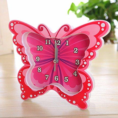 SSBY Farfalla colorata progetta lover gift Home decorazione plastica orologio,B