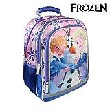Disney Die Eiskönigin 2100002254 Rucksack, 38 cm, Kinder, Blau, Elsa, Anna, Olaf