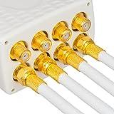 130dB 50m Koaxial SAT Kabel HQ-135 PRO 4-fach geschirmt für DVB-S / S2 DVB-C und DVB-T BK Anlagen + 10 vergoldete F-Stecker SET Gratis dazu - 5