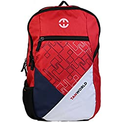 Casual College Laptop Bag for 15.6 inch Laptop - TANWORLD - TWLTBP03 Printed Laptop Bag - Daypack - Casual Backpack Bag (Red)