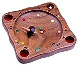 Logoplay Holzspiele Tiroler Roulette - Kreiselspiel - Geschicklichkeitsspiel - Gesellschaftsspiel - Brettspiel aus Holz