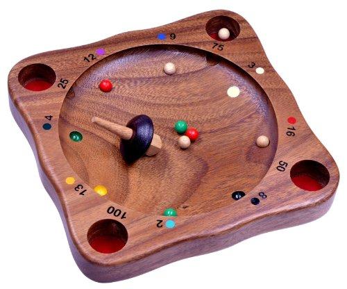 Tiroler Roulette - Kreiselspiel - Geschicklichkeitsspiel - Gesellschaftsspiel - Brettspiel aus Holz