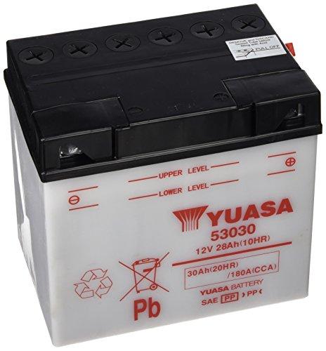 Yuasa - Batteria 53030 - L187Xl130Xh170 - Con Manutenzione - Fornita Senza Acido