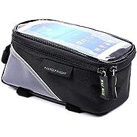 Bolsa de manillar de bicicleta universal impermeable bolsa de teléfono móvil bolsa de asiento bolsa de