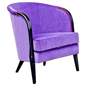 Febland Celia Tub Chair, Fabric, Purple, 80x66x72 cm